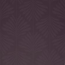 Damson Leaf Wallcovering by Clarke & Clarke