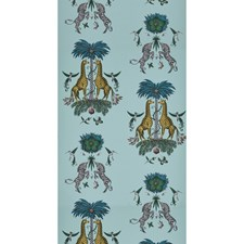 Turquoise Animal Wallcovering by Clarke & Clarke