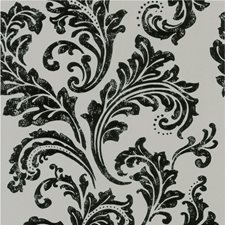 Yellow/Black Damask Wallcovering by Kravet Wallpaper