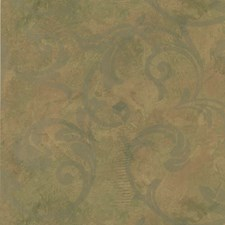 Yellow/Green/Rust Damask Wallcovering by Kravet Wallpaper