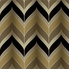 Gold/Silver/Black Contemporary Wallcovering by Kravet Wallpaper