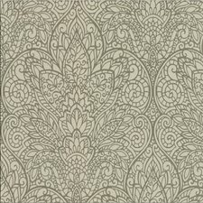 Beige/Gold/Metallic Damask Wallcovering by Kravet Wallpaper