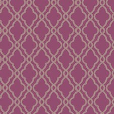 Magenta/Metallic Silver Geometrics Wallcovering by York