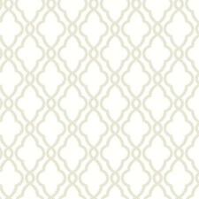 Cream/Tan Geometrics Wallcovering by York