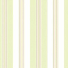 Off-white/Yellow Green/Pink Stripes Wallcovering by York