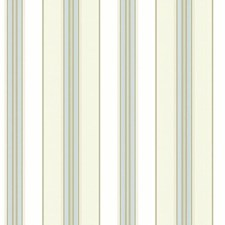 Off-white/Cream/Blue Stripes Wallcovering by York