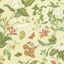 Beige/White/Green Botanical Wallcovering by York