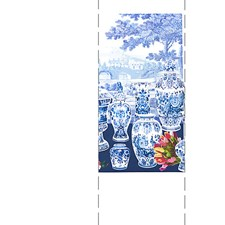 Blue - Right Panel Wallcovering by Scalamandre Wallpaper