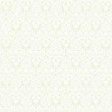 White On Silvered Pearl Damask Wallcovering by York