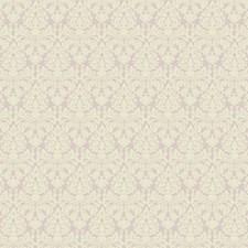 Purple Lilac/Cream Damask Wallcovering by York