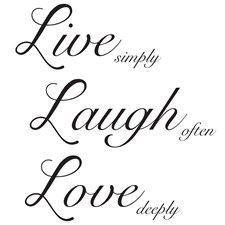 WPQ1744 Live Laugh Love Wall Quote by Brewster