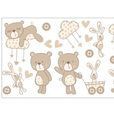 WS40260 Bear And Boo Neutral Wall Stickers by Brewster