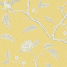 Yellow/Grey Wallcovering by Scalamandre Wallpaper