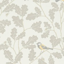Grey/Beige Wallcovering by Scalamandre Wallpaper