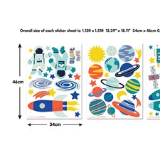 WT44883 Outer Space Wall Art Kit by Brewster