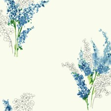 White/Blue/Yellow Floral Medium Wallcovering by York