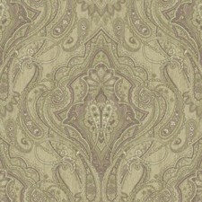 Beige/Dusty Lilac/White Damask Wallcovering by York